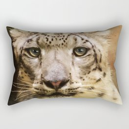 Hope For Tomorrow - Snow Leopard Art Rectangular Pillow