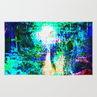 """hologram Area & Throw Rugs featuring """" The voice  is a second face"""" by shiva camille"""