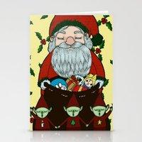 doraemon Stationery Cards featuring Santa by nu boniglio