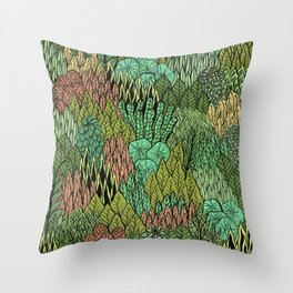 April Leaves Throw Pillow