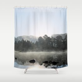 In the pale blue light Shower Curtain