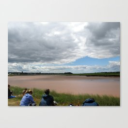 Waiting for the Tidal Bore Canvas Print
