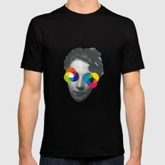 Psychedelic glasses MEDIUM Mens Fitted Tee Black