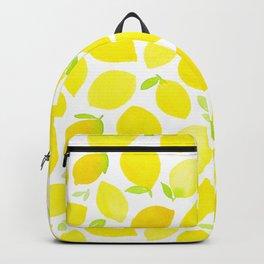 Beautiful Lemon Pattern Backpack