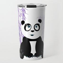 Panda Girl - Purple Travel Mug