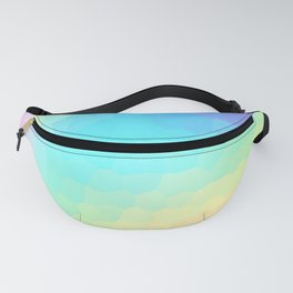 Pastel Rainbow Gradient With Stained Glass Effect Fanny Pack