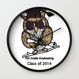 Oak Meadows Owls - Class of 2014 Wall Clock