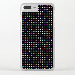 Big Hirst Polka Dot Black Clear iPhone Case