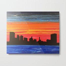 Toledo Skyline Metal Print