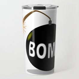 Cartoon Bomb Travel Mug