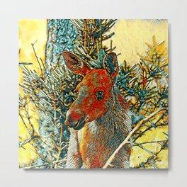 AnimalArt_Moose_002 Metal Print