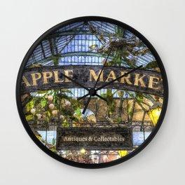 The Apple Market Covent Garden London Art Wall Clock