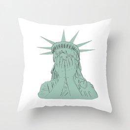 Lady Liberty Throw Pillow