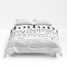Bodoni (Black) Comforters