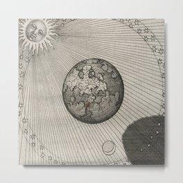 Sun and Moon Orbit Map Metal Print