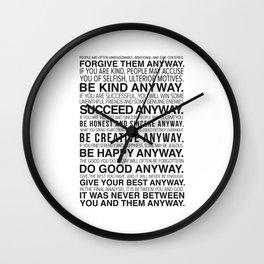 Forgiveness Manifesto Wall Clock