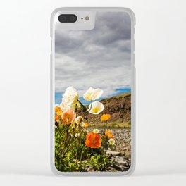Icelandic Poppies III Clear iPhone Case