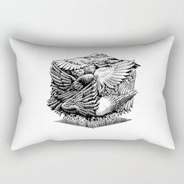 Pigeon Cube Rectangular Pillow