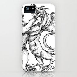 Grizzly Bear Fighting  Chinese Dragon Tattoo iPhone Case