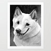 shiba inu Art Prints featuring Shiba-Inu  by Bark Point Studio
