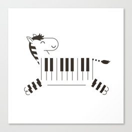Life is like a piano Canvas Print