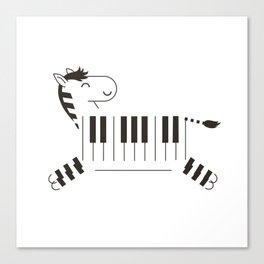 Life is like a piano Canvas Print