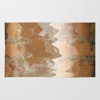 asian Area & Throw Rugs featuring Asian background by dominiquelandau