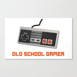 Old School Gaming Canvas Print