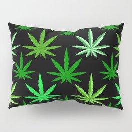 Marijuana Green Weed Pillow Sham
