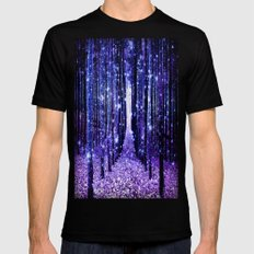Magical Forest Mens Fitted Tee Black X-LARGE