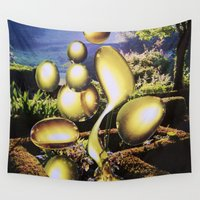 oil Wall Tapestries featuring Oil by John Turck