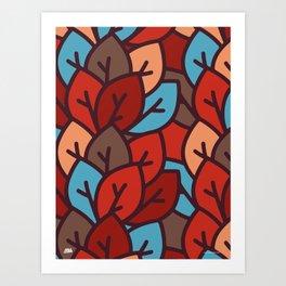 Leaf litter I Art Print