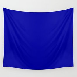 Simple Solid Color Earth Blue All Over Print Wall Tapestry