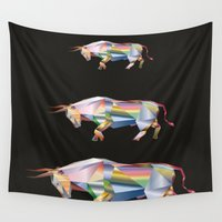 prism Wall Tapestries featuring Prism Bull by Anarchasm