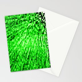 Green Pixel Wind Stationery Cards