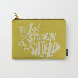 Psalm 28: 7 x Mustard Carry-All Pouch