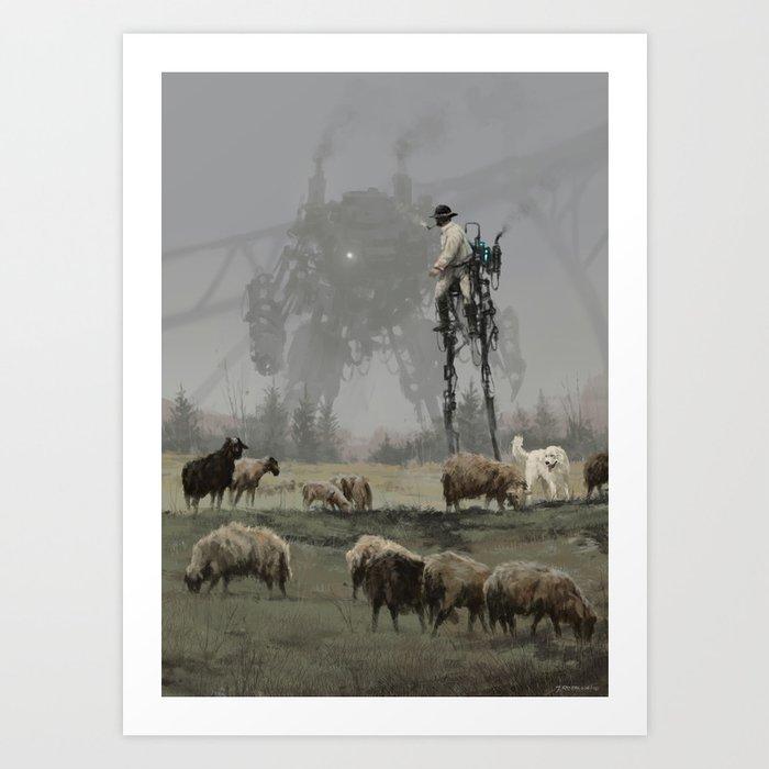 1920 - shepherd Kunstdrucke