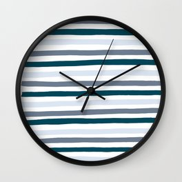 Thick Lines Wall Clock