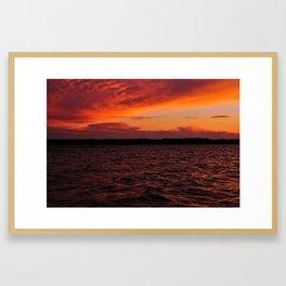 Lake Leelanau Sunset Framed Art Print