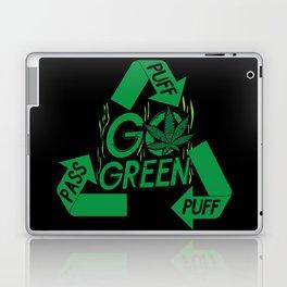 PUFF PUFF PASS GO GREEN Laptop & iPad Skin
