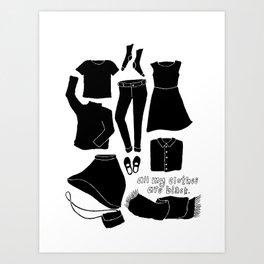 all black always Art Print