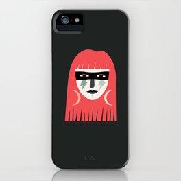 Lightning Bolt Girl iPhone Case