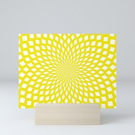 yellow web Mini Art Print