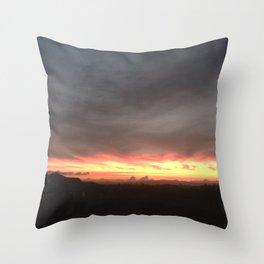 Fired Horizons Throw Pillow