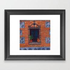 Toledo window Framed Art Print