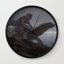 lizard rider rapid Wall Clock