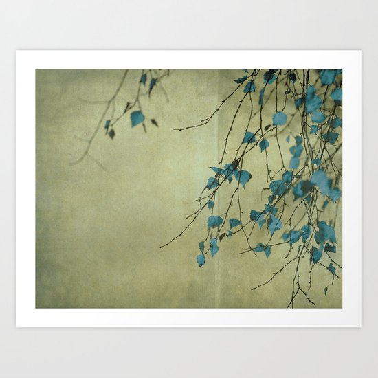 Tree in blue Art Print