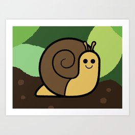 Cutesy Crawlies — Snail Art Print