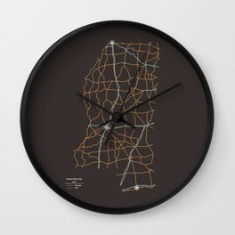 Mississippi Highways Wall Clock