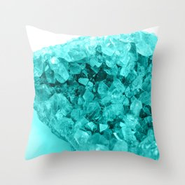 Aqua Ice Amethyst Throw Pillow